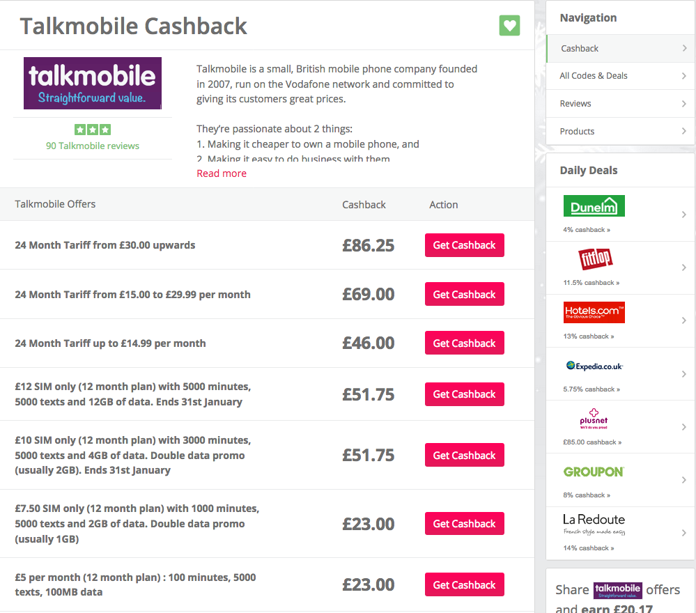 talkmobile-cashback-plans