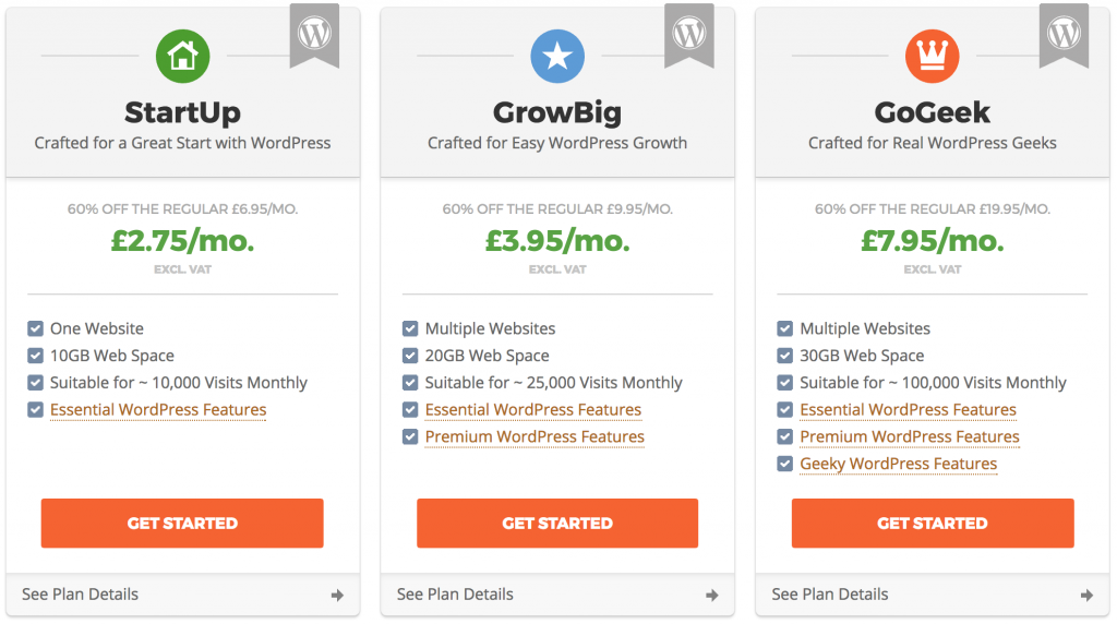 Siteground WordPress plans to start a blog